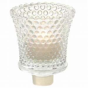 Kerzenständer Mit Glasaufsatz : glas kerzenhalteraufsatz aus dicken glas mit noppenstruktur ~ Indierocktalk.com Haus und Dekorationen