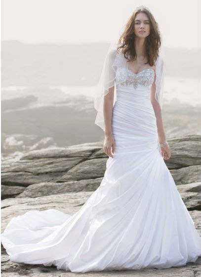 strapless sweetheart trumpet wedding gown davids bridal