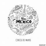 Coloring Viva Mexico Tequila Bottle Sombrero Lettering Freehand Antistress Maraca Calligraphy Mexican Greeting Sketch Poster Similar Adobe sketch template