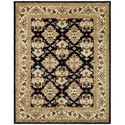 area rugs black safavieh heritage black ivory 8 ft x 11 ft area rug 1335