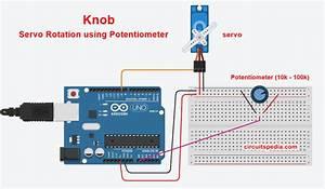 Servo Motor Control Using Potentiometer Arduino Uno
