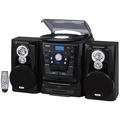 Jensen JMC1250 Bluetooth 3-Speed Stereo Turntable and 3 CD ...