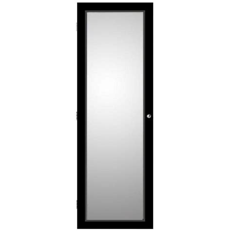 Oxford Jewelry Armoire by Oxford Wall Mount Jewelry Armoire With Mirror In Black