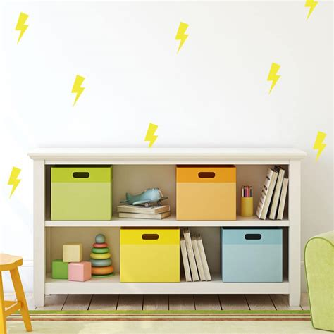 yellow lightning bolt wall stickers shape wall stickers