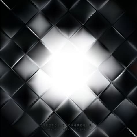 abstract black and white square background design