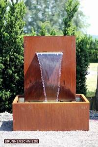 Pumpe Für Wasserspiel : wasserspiel cortenstahl wasserfall 30 im edelrost design inkl pumpe garten brunnen garten ~ Buech-reservation.com Haus und Dekorationen