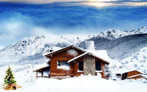 Christmas, Cottage, Wallpaper, Desktop Wallpapers, Awesome