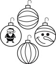 free printable ornaments coloring page for 4