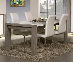 Table De Salle A Manger Contemporaine Avec Rallonge : table contemporaine rectangulaire ~ Teatrodelosmanantiales.com Idées de Décoration