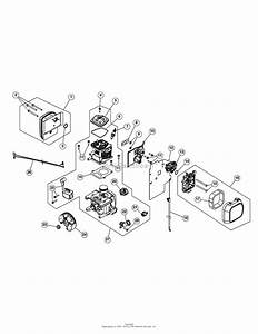 Mtd 41br4beg799  316 794011  Parts Diagram For Engine Assembly