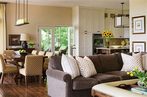 Ideas For L Shaped Living Dining Room by Lakeview Estate L Shaped Kitchen Dining Living Rooms L