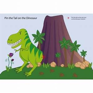 dinosaur party games pin the tail on the dinosaur With pin the tail on the dinosaur template