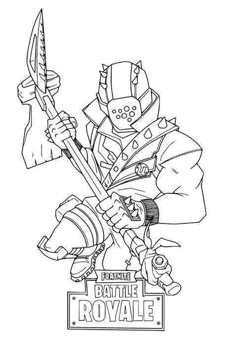 fortnite coloring pages getcoloringpagescom