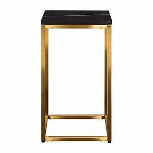 Table D Appoint Haute : gold table d 39 appoint haute marbre noir habitat ~ Nature-et-papiers.com Idées de Décoration