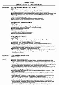 Responsibilities Of A Waitress For Resumes Waitress Resume Examples For Restaurant Server Best