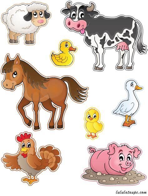 stickers animaux chambre bébé animaux de la ferme à découper lulu la taupe jeux