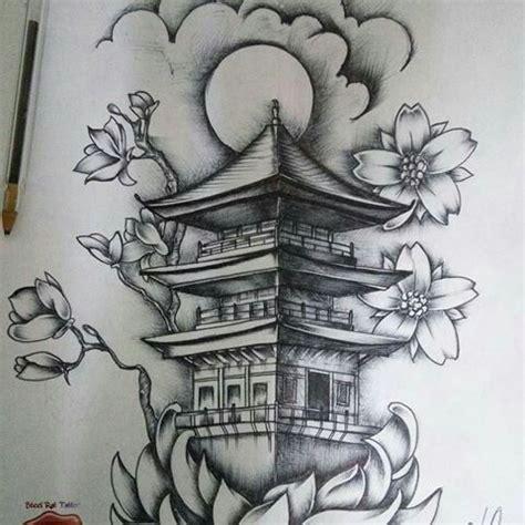 templo chino dibujo pinterest tattoo oriental  tatoo