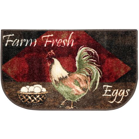 washable rooster rugs vintage rooster kitchen washable rectangular rug jcpenney