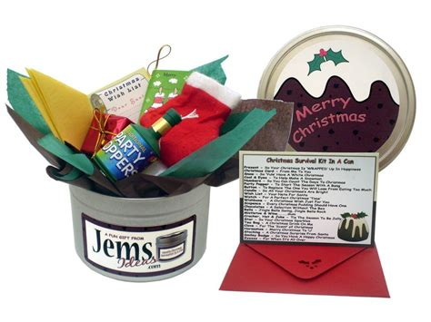 christmas gift ideas for workmate humorous survival kit in a can novelty gift present card for a
