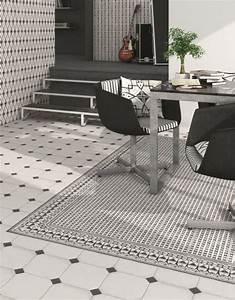 Tapis Carreaux De Ciment Saint Maclou : tapis version motif carreaux de ciment carreaux ~ Nature-et-papiers.com Idées de Décoration