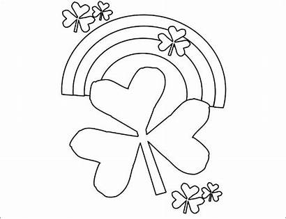 Template Shamrocks Coloring Rainbow Shamrock Templates Pages