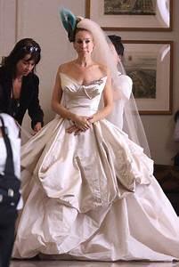 personagem de sarah jessica parker carrie bradshaw com With sex and the city wedding dress