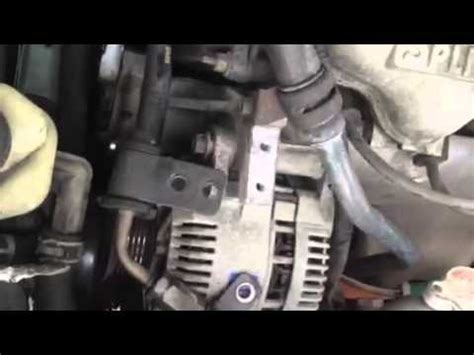 remove  alternator    ford escort youtube