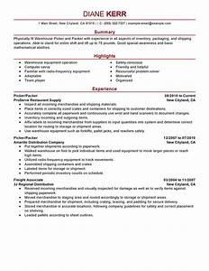 Persuasive Career Change Cover Letter Best Picker And Packer Resume Example Livecareer