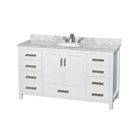 wyndham collection sheffield 60 inch w vanity in white