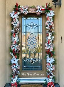 Farmhouse, Christmas, Garland, Front, Door, Christmas, Decor, Rustic, Christmas, Front, Door, Garland