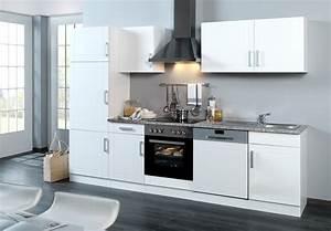 Hochglanz Weiß Küche : k chenzeile varel k che mit e ger ten breite 280 cm ~ Michelbontemps.com Haus und Dekorationen