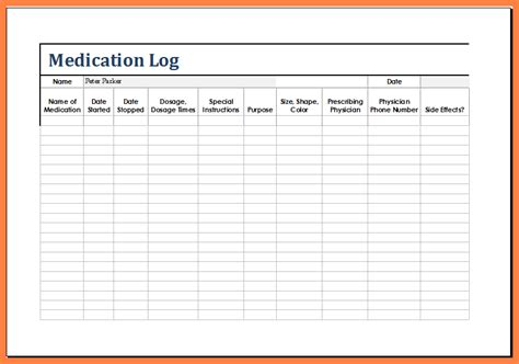 Medication List Template 12 Medication List Template Marital Settlements Information