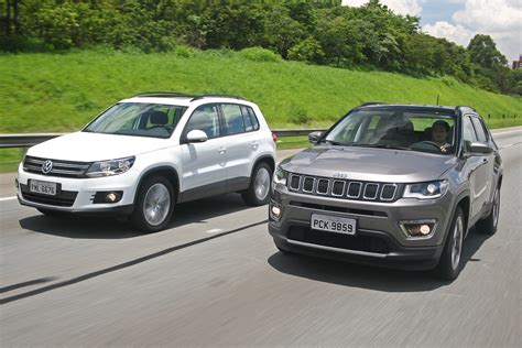 Volks Tiguan Diesel by Jeep Compass Flex Vs Vw Tiguan 1 4 Revolu 231 227 O