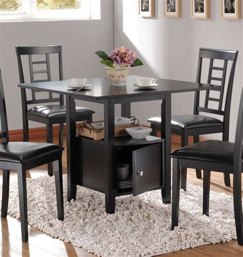 acme furniture drew black dining table with storage