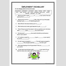 Employment Vocabulary Worksheet  Free Esl Printable Worksheets Made By Teachers
