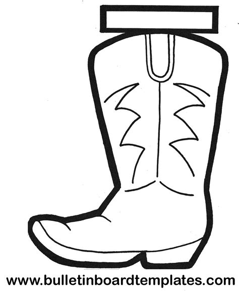 cowboy boot template cowboy boot outline
