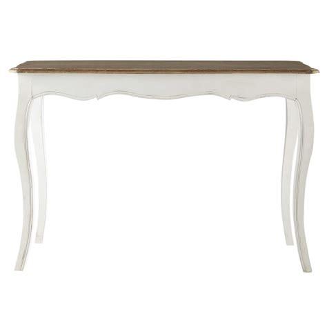 console maison du monde table console en manguier massif blanc versailles