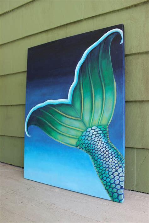 undersea mermaid tail contemporary painting