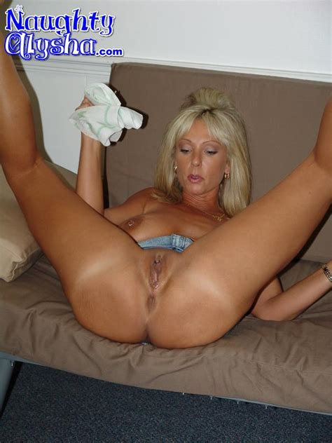 tanned blonde milf wearing dark top and den xxx dessert picture 4