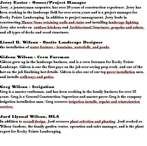 rocky pointe landscaping company profile