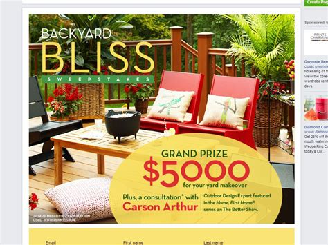 better home and gardens sweepstakes better homes and gardens real estate backyard bliss sweepstakes