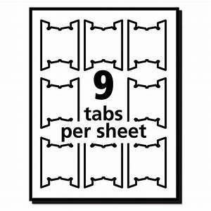 Avery 5 tab label template for Avery print on tabs template