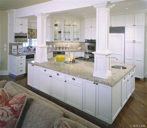 kitchen island with posts kitchen island with columns artisan woods kitchens white column kitchen kitchen ideas