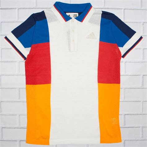 color block polo shirt adidas x pharrell williams ny colorblock polo shirt