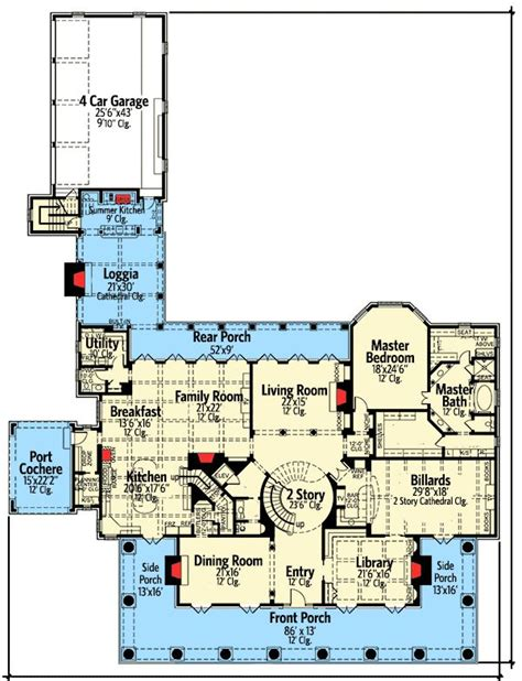southern plantation floor plans plan 42156db your own southern plantation home