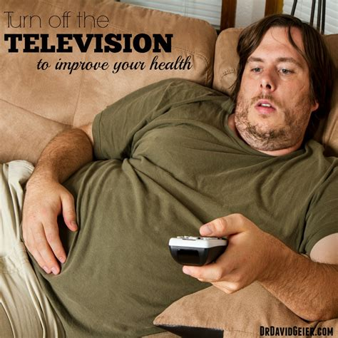 Turn off the TV to improve your health | Dr. David Geier ...