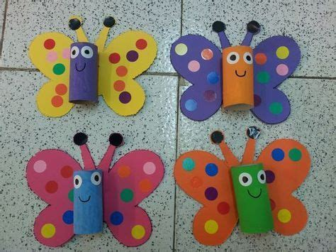 toilet paper roll butterfly craft (2) Crafts and