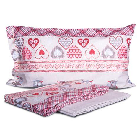 completo lenzuola  flanella gufetto  cose  casa  mondo  accessori  la casa