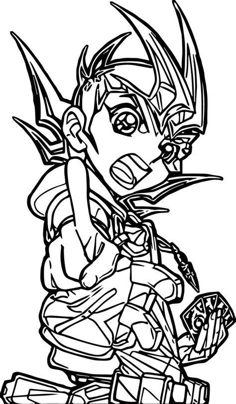 Kleurplaat Yu Gi Oh by Yu Gi Oh Angry Coloring Page Activity