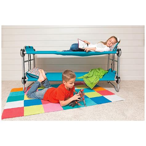 portable bunk beds disc o bed youth kid o bunk portable bunk bed with
